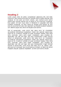Cube Segment Word Template, Second Inner Page, 07582, Consulting — PoweredTemplate.com