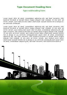 City Suburbs Word Template, Cover Page, 07584, Construction — PoweredTemplate.com