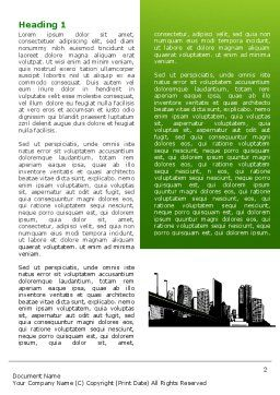 City Suburbs Word Template, First Inner Page, 07584, Construction — PoweredTemplate.com