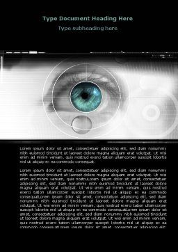 Selection of Contact Lenses Word Template, Cover Page, 07585, Technology, Science & Computers — PoweredTemplate.com