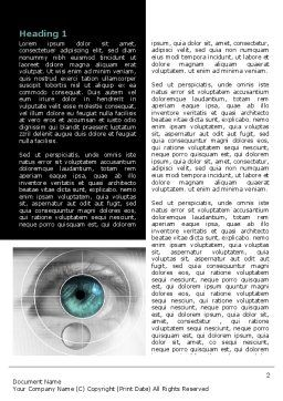 Selection of Contact Lenses Word Template, First Inner Page, 07585, Technology, Science & Computers — PoweredTemplate.com
