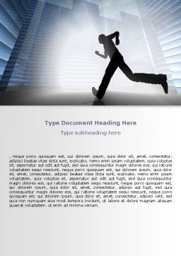 City Runner Word Template, Cover Page, 07586, Business — PoweredTemplate.com