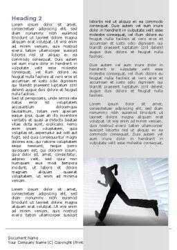 City Runner Word Template, First Inner Page, 07586, Business — PoweredTemplate.com