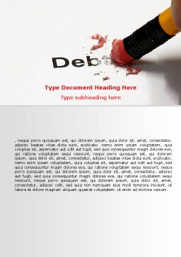 Debt Liquidation Word Template, Cover Page, 07587, Financial/Accounting — PoweredTemplate.com