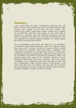 Spring Tree Stick Word Template, Second Inner Page, 07591, Nature & Environment — PoweredTemplate.com