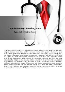Rigorous Doctor Word Template, Cover Page, 07594, Medical — PoweredTemplate.com
