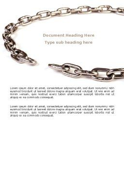 Torn Chain Word Template, Cover Page, 07599, Consulting — PoweredTemplate.com