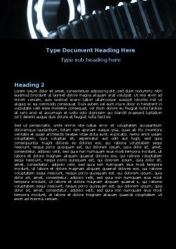 Bearing In Dark Blue Colors Word Template, Second Inner Page, 07600, Utilities/Industrial — PoweredTemplate.com
