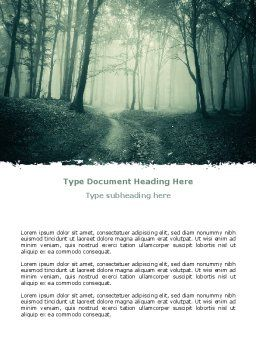 Misty Forest Word Template, Cover Page, 07601, Nature & Environment — PoweredTemplate.com