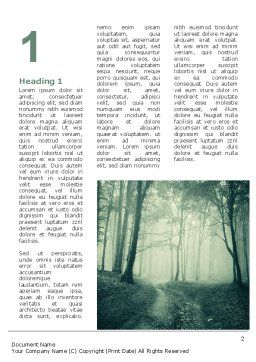 Misty Forest Word Template, First Inner Page, 07601, Nature & Environment — PoweredTemplate.com
