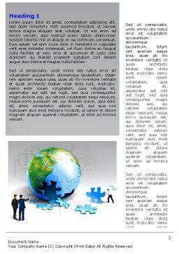 Finalization Of Jigsaw World Word Template, First Inner Page, 07611, Global — PoweredTemplate.com