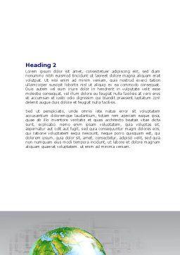 Finalization Of Jigsaw World Word Template, Second Inner Page, 07611, Global — PoweredTemplate.com