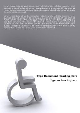 Disability Word Template, Cover Page, 07614, Medical — PoweredTemplate.com