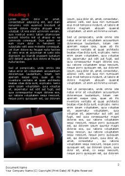 Unlock Key Word Template, First Inner Page, 07615, Technology, Science & Computers — PoweredTemplate.com