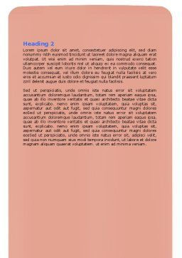 Superior Word Template, Second Inner Page, 07616, Consulting — PoweredTemplate.com