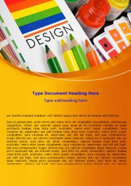 Design Tools Word Template, Cover Page, 07617, Careers/Industry — PoweredTemplate.com