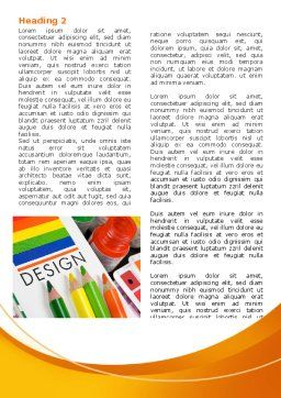 Design Tools Word Template, First Inner Page, 07617, Careers/Industry — PoweredTemplate.com