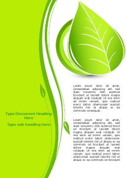 Tender Green Spring Leaf Word Template, Cover Page, 07618, Nature & Environment — PoweredTemplate.com