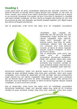 Tender Green Spring Leaf Word Template, First Inner Page, 07618, Nature & Environment — PoweredTemplate.com