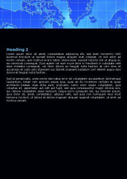 Parabolic Antennas of Long Range Communication Word Template, Second Inner Page, 07620, Telecommunication — PoweredTemplate.com