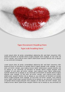 Heart Lips Word Template Cover Page