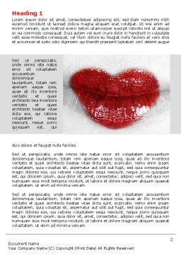 Heart Lips Word Template First Inner Page