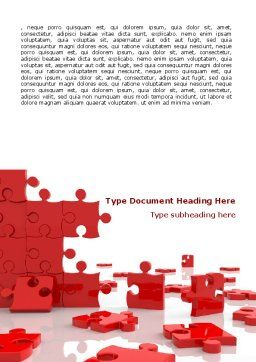 Pieces Falling Apart Word Template, Cover Page, 07624, Consulting — PoweredTemplate.com
