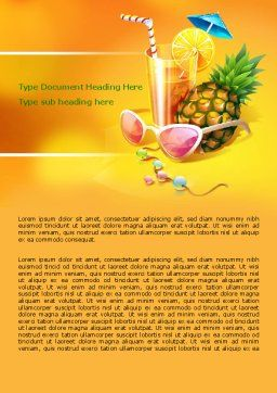 Tropical Vacation Word Template Cover Page