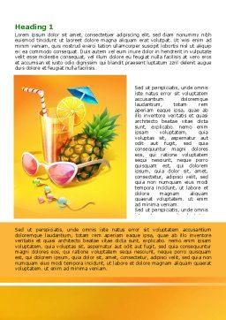 Tropical Vacation Word Template First Inner Page