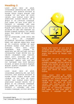 Tech Support Sign Word Template, First Inner Page, 07627, Construction — PoweredTemplate.com