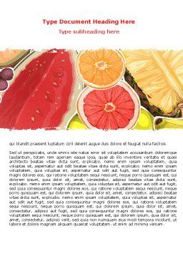 Fruit Pulp Word Template, Cover Page, 07631, Food & Beverage — PoweredTemplate.com