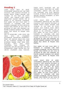 Fruit Pulp Word Template, First Inner Page, 07631, Food & Beverage — PoweredTemplate.com
