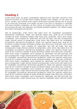 Fruit Pulp Word Template, Second Inner Page, 07631, Food & Beverage — PoweredTemplate.com
