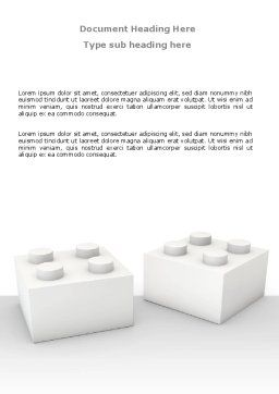 Lego Blocks Word Template, Cover Page, 07632, Consulting — PoweredTemplate.com