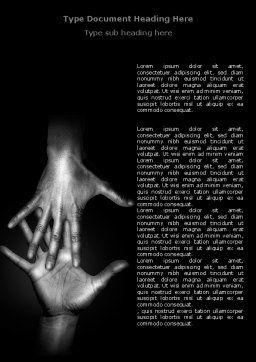 Reaching Hands Word Template, Cover Page, 07634, Religious/Spiritual — PoweredTemplate.com