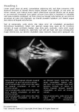 Reaching Hands Word Template, First Inner Page, 07634, Religious/Spiritual — PoweredTemplate.com