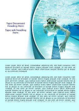 Underwater Picture Of Swimming Pool Word Template, Cover Page, 07635, Sports — PoweredTemplate.com