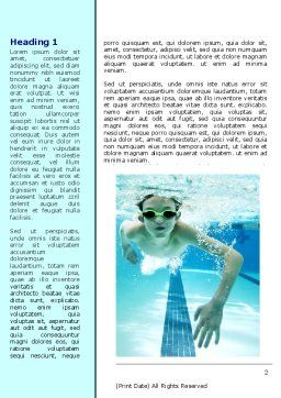 Underwater Picture Of Swimming Pool Word Template, First Inner Page, 07635, Sports — PoweredTemplate.com