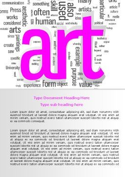 Font Collage Word Template Cover Page