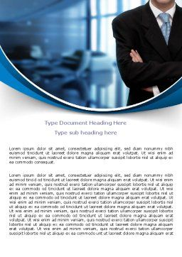 Business Style Word Template, Cover Page, 07645, Business — PoweredTemplate.com