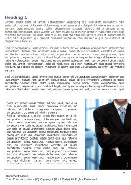 Business Style Word Template, First Inner Page, 07645, Business — PoweredTemplate.com