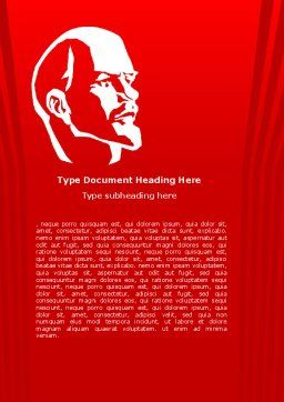 Lenin Word Template, Cover Page, 07646, Flags/International — PoweredTemplate.com