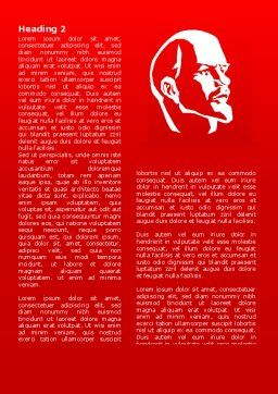 Lenin Word Template, First Inner Page, 07646, Flags/International — PoweredTemplate.com