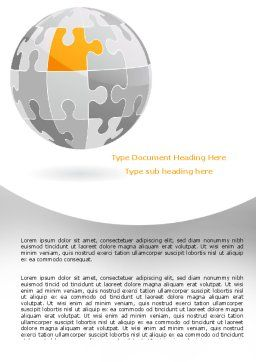 Orange Jigsaw Word Template, Cover Page, 07649, Business Concepts — PoweredTemplate.com