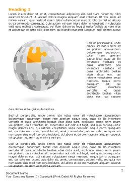 Orange Jigsaw Word Template, First Inner Page, 07649, Business Concepts — PoweredTemplate.com