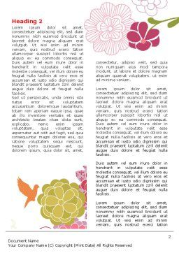 Pink Floral Theme Word Template, First Inner Page, 07650, Nature & Environment — PoweredTemplate.com