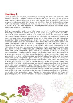 Pink Floral Theme Word Template, Second Inner Page, 07650, Nature & Environment — PoweredTemplate.com