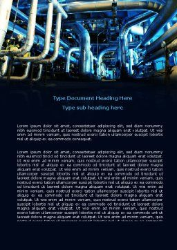 Industrial Pipelines Word Template, Cover Page, 07655, Utilities/Industrial — PoweredTemplate.com