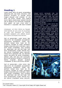 Industrial Pipelines Word Template, First Inner Page, 07655, Utilities/Industrial — PoweredTemplate.com