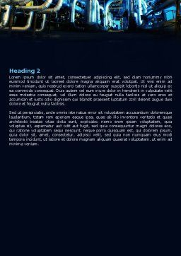 Industrial Pipelines Word Template, Second Inner Page, 07655, Utilities/Industrial — PoweredTemplate.com